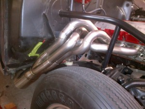 55 chevy fender well stainless headers